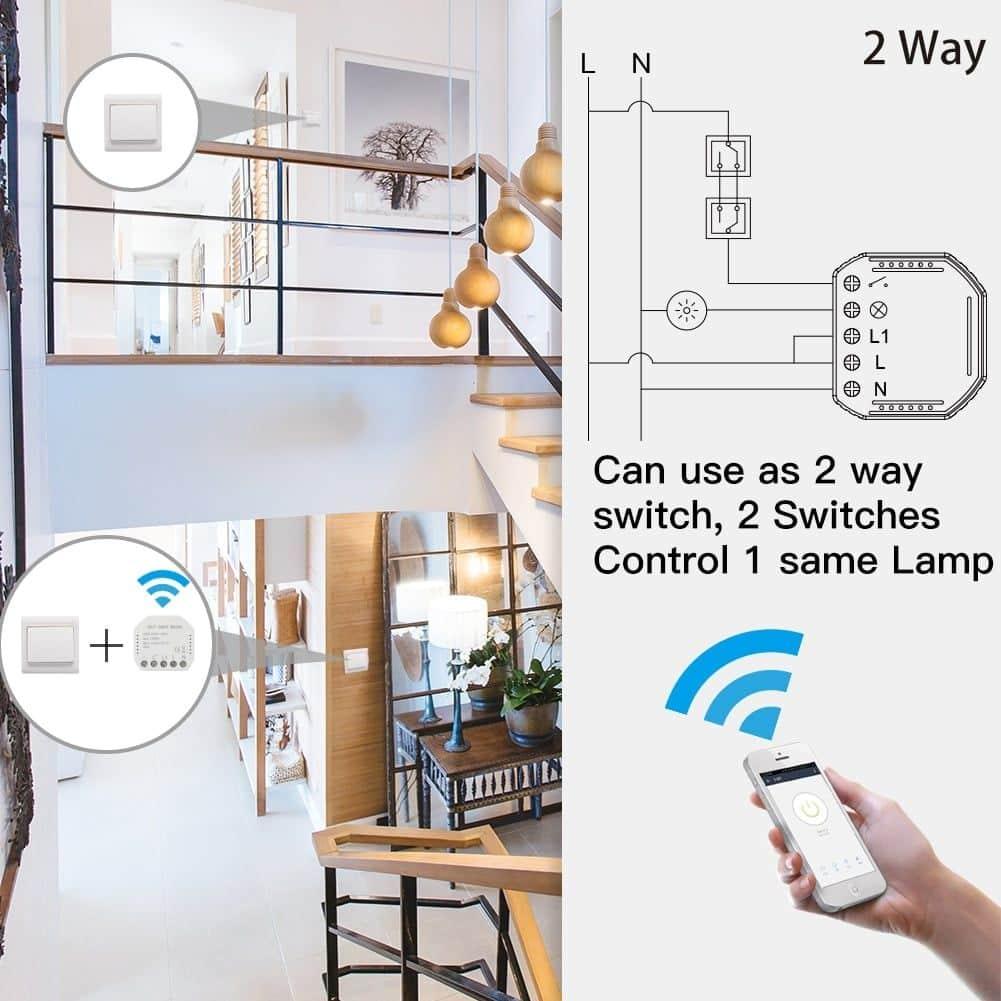 Kwh positif, n/égatif et total consomm/é, active W, r/éactive Var, facteur Cos, tension V, amp/érage A, fr/équence Hz et /énergie restante Kwh jusqu/à 0 Compteur /électrique WiFi Smart Life Tuya