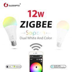 Lâmpada LED 12W RGB Zigbee GLEDOPTO