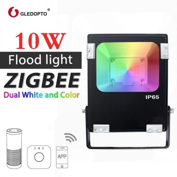 GLEDOPTO-ZIGBEE-10-W-riflettore LED-RGB-AAC-bianco-c-lido-e-bianco-light-ZigBee-link