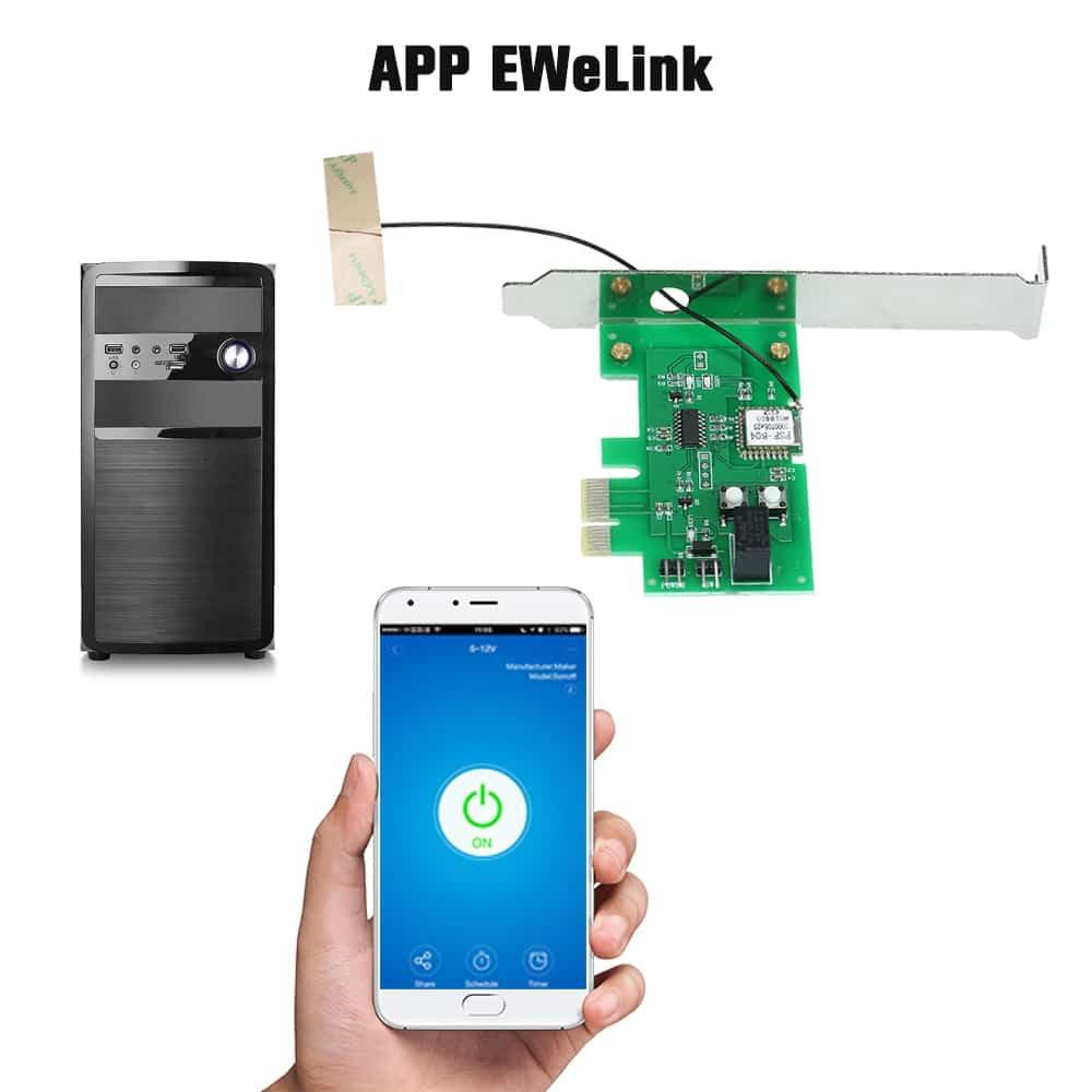Placa PCIe para encendido remoto eWeLink