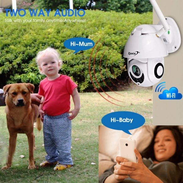 Cámara IP WiFi 2MP 1080 P Wifi PTZ