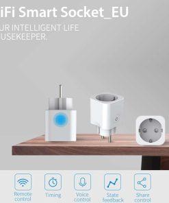 Timethinker-Ewelink-z-calo-inteligente-WiFi-interruptor-enchufe-de-la-UE-APP-voz-Control-remoto-inal