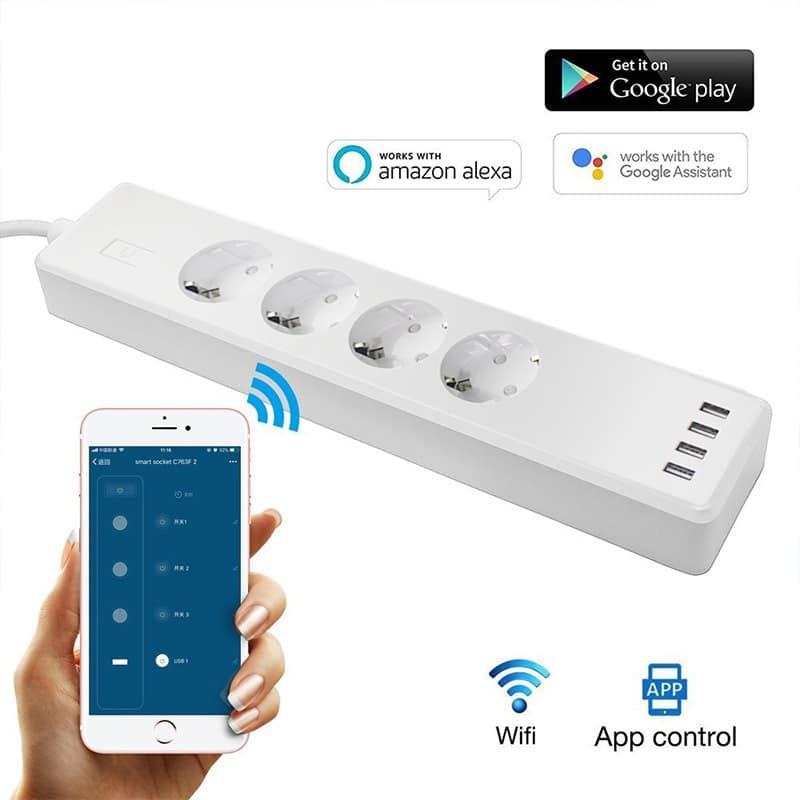 Regleta Enchufes Wifi con USB
