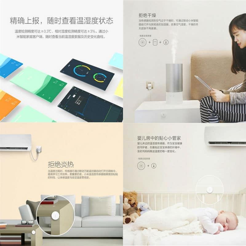 Xiaomi temperatuur- en vochtigheidssensor
