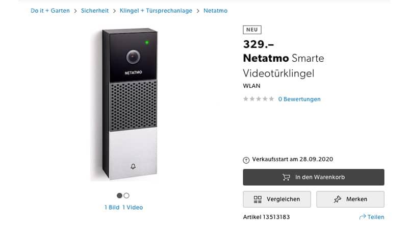 Netatmo Confirm Rumoured Release of Video Doorbell for End of Sept