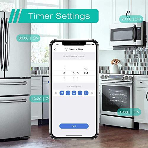 Enchufe inteligente con Wi-Fi, 16A 3680W, Compatible con Alexa y Google Assistant, con Aplicación de Control Remoto para iOS y Android, Wi-Fi Smart Plug, Paquete de 3.