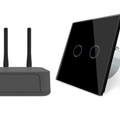 Livolo Starter Parket-2 – Sistema de iluminación inteligente con interruptor y apertura, color negro, Alexa Cloudbox Wlan everhome control por voz táctil