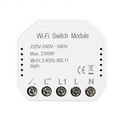KKmoon Smart WiFi Switch Conmutador de Red Inteligente Interruptor de luz Inteligente El Control Remoto WiFi Módulo de Interruptor de Bricolaje El Control Remoto Funciona