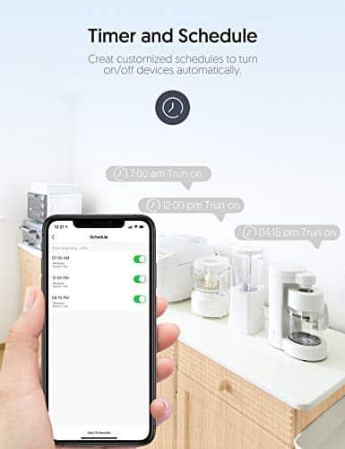 Enchufe Inteligente Zoozee WiFi Enchufe Smart 16A Inteligente Plug Compatible con Google Home Amazon Alexa, App Control en Cualquier Lugar y Tiempo, No Requiere Hub (2 pack)