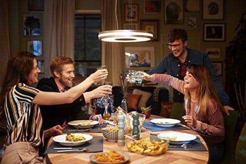 Philips Hue Being Lámpara Colgante Inteligente con Mando, Luz Blanca Cálida a Fría, Compatible con Alexa y Google Home